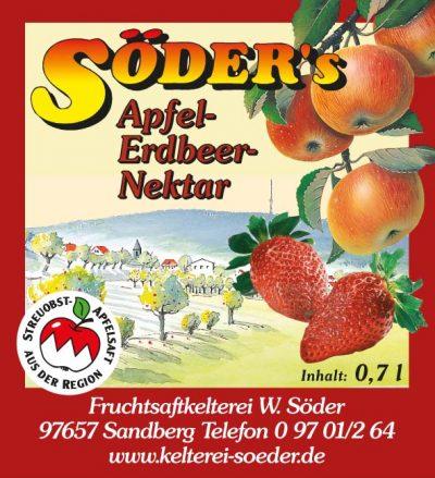 Apfel-Erdbeere-Nektar