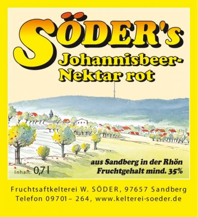 Johannisbeer-Nektar rot