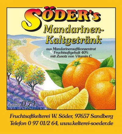 Mandarinen-Kaltgeträng