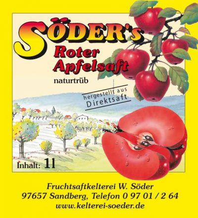 roter Apfelsaft